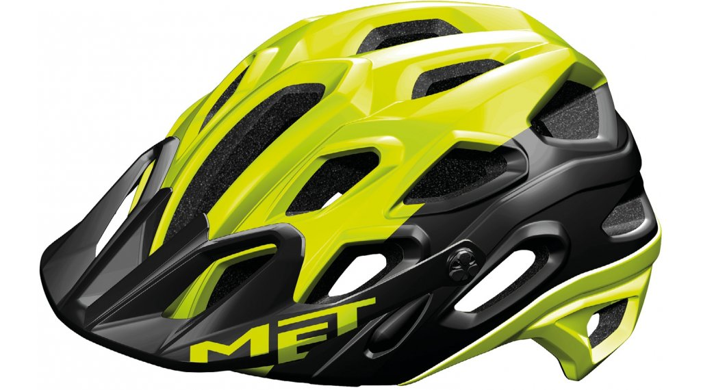 MET Lupo MTB-Helm Gr. M (54-58cm) safety yellow black/matt