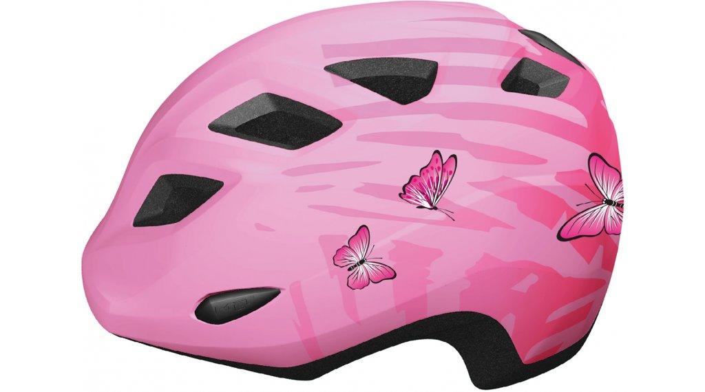 MET Elfo niños-casco tamaño unisize (46-53cm) rosa butterflies/glossy