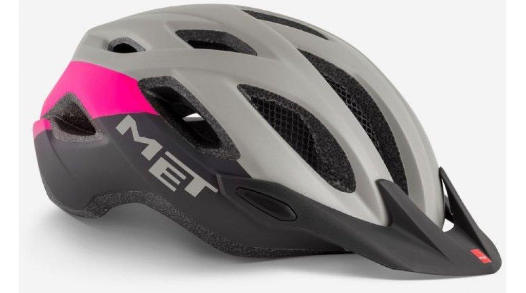 MET Crossover Fahrradhelm Gr. M (52-59cm) gray/pink