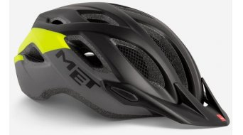 MET Crossover Fahrradhelm Gr. M (52-59cm) black safety yellow/matt