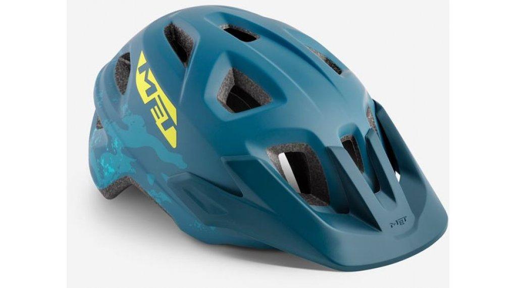 MET Eldar Kinder-Helm Gr. unisize (52-57cm) petrol blue camo