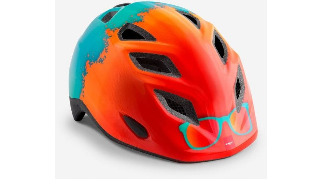 MET Elfo Kinder-Helm Gr. unisize (46-53cm) orange rayban/glossy