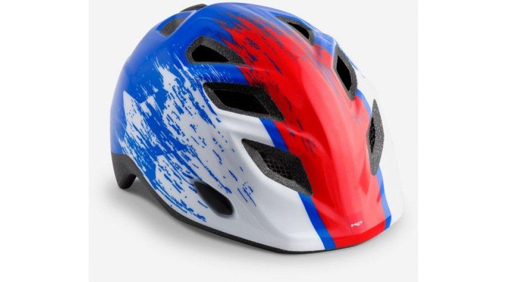 MET Elfo Kinder-Helm Gr. unisize (46-53cm) blue red hero/glossy