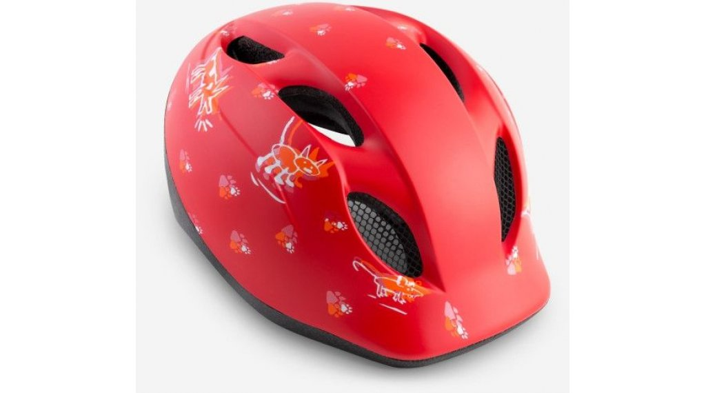 MET Buddy Kinder-Helm Gr. unisize (46-53cm) red animals/matt