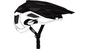 ONeal Pike 2.0 Solid MTB-Helm Gr. S/M black/white Mod. 2020