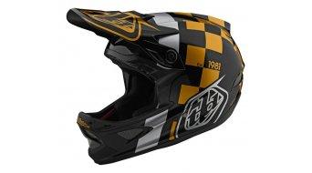 Troy Lee Designs D3 (FL) Fiberlite Fullface MTB(山地)头盔 型号 LG (L) raceshop black/金色 款型 2020