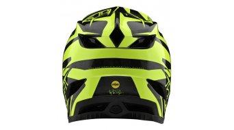 Troy Lee Designs D4 Carbon MIPS Fullface MTB(山地)头盔 型号 SM (S) slash black/yellow 款型 2020