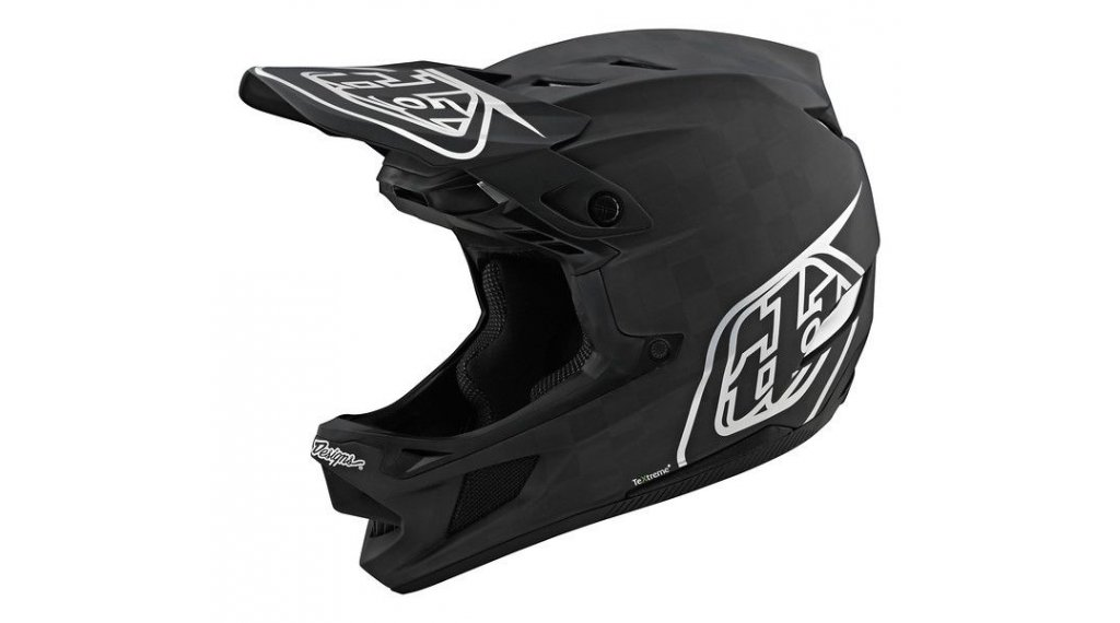 troy Lee Designs D4 Carbon MIPS Fullface МТБ каска, размер SM (S) stealth черно/silver модел 2020