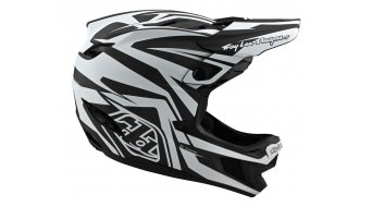 Troy Lee Designs D4 Carbon MIPS Fullface МТБ каска, размер SM (S) slash черно/бяло модел 2020