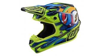 Troy Lee Designs SE4 Composite Fullface Мотокрос шлем, размер XL eyeball navy/yellow модел 2020