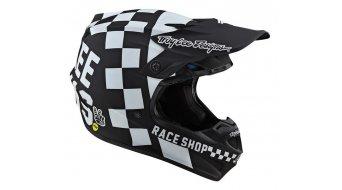 Troy Lee Designs SE4 Polyacrylite Fullface MX-Helm Gr. MD (M) checker black/white Mod. 2020