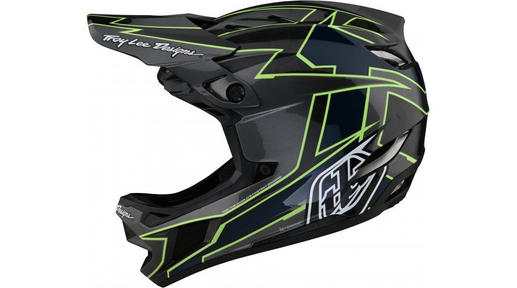 Troy Lee Designs D4 Graph carbono MIPS casco integral Fahrradhelm tamaño S (55-56cm) gray/verde
