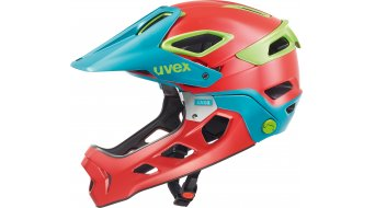 Uvex Jakkyl HDE Helm All Mountain/Enduro MTB-Helm red-petrol mat