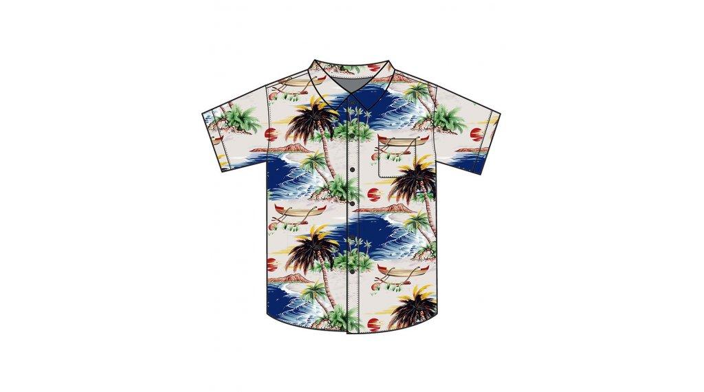 Loose Riders Tahiti camisa de manga corta tamaño S azul/amarillo