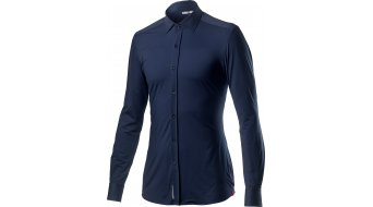 Castelli VG Button shirt shirt korte mouw heren dark infinity blue