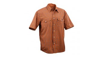 Race Face Shop Hemd kurzarm Herren Gr. L orange plaid