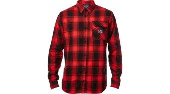 FOX Voyd Flannel Мъжка риза с дълъг ръкав, M черно/червено