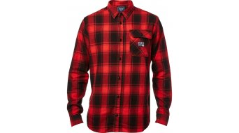Fox Voyd Flannel camisa manga larga Caballeros tamaño L negro/rojo