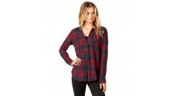 FOX Deny Flannel camicia manica lunga da donna mis. S dark red