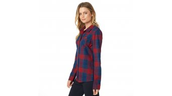 Fox Kick It Flannel Hemd langarm Damen Gr. S dark red