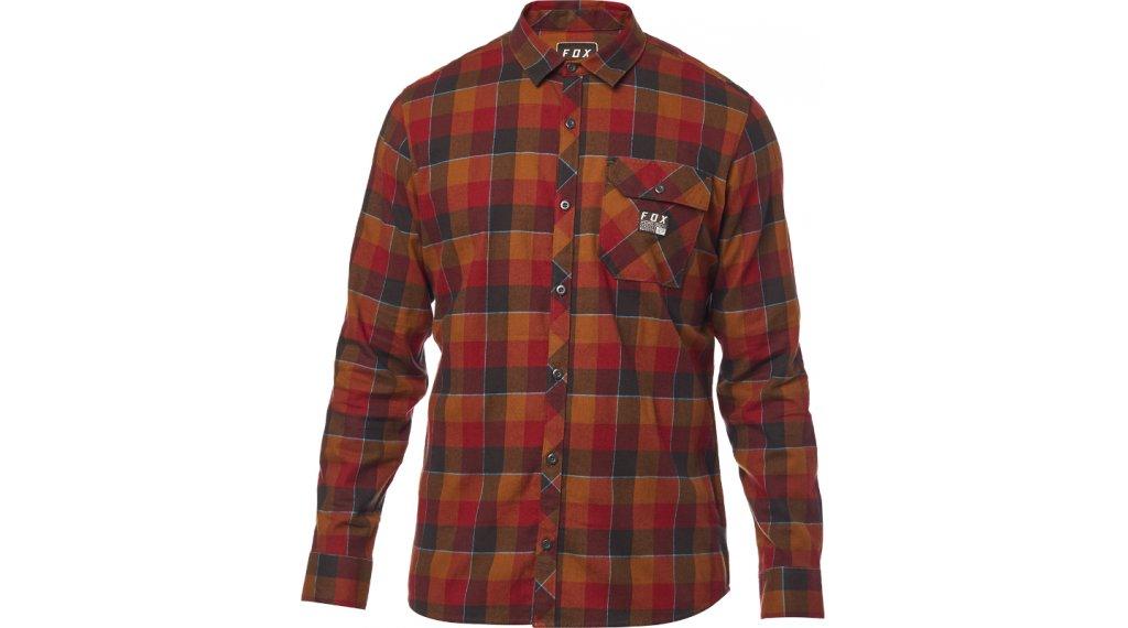 Fox Rowan Stretch Flannel camisa manga larga Caballeros tamaño XXL bordeaux