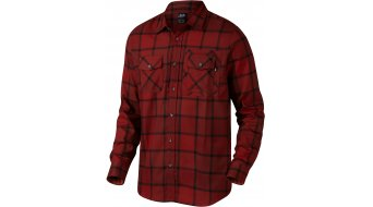 Oakley Adobe shirt lange mouw herenshirt Woven maat. M fired brick (Regular Fit)