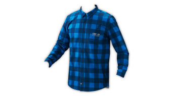 Troy Lee Designs Grind Flannel camisa manga larga Caballeros-camisa tamaño L plaid dirty azul