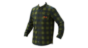 Troy Lee Designs Grind Flannel camisa manga larga Caballeros-camisa L plaid MODELO DE DEMONSTRACIÓN