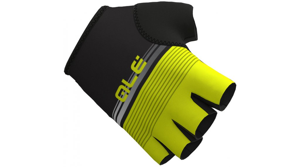 Alé Classiche del Nord Handschuhe kurz Gr. L black/fluo yellow