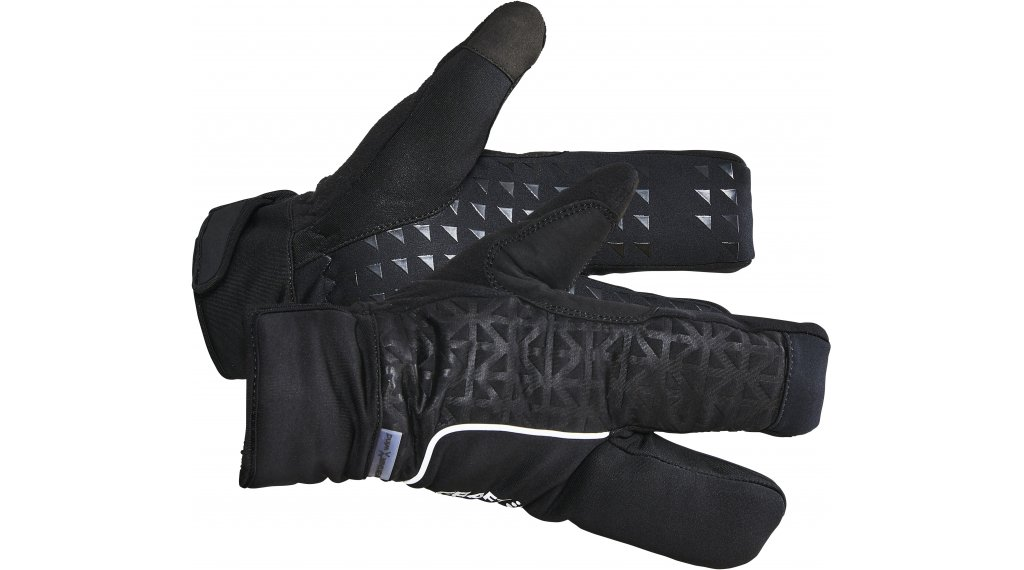 Craft Siberian 2.0 Split Finger Handschuhe lang Gr. L (10) black