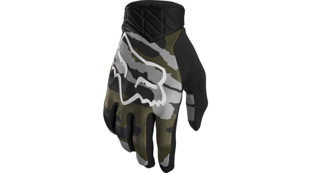 FOX Flexair Мъжки ръкавици с пръсти за МТБ, размер S green camo