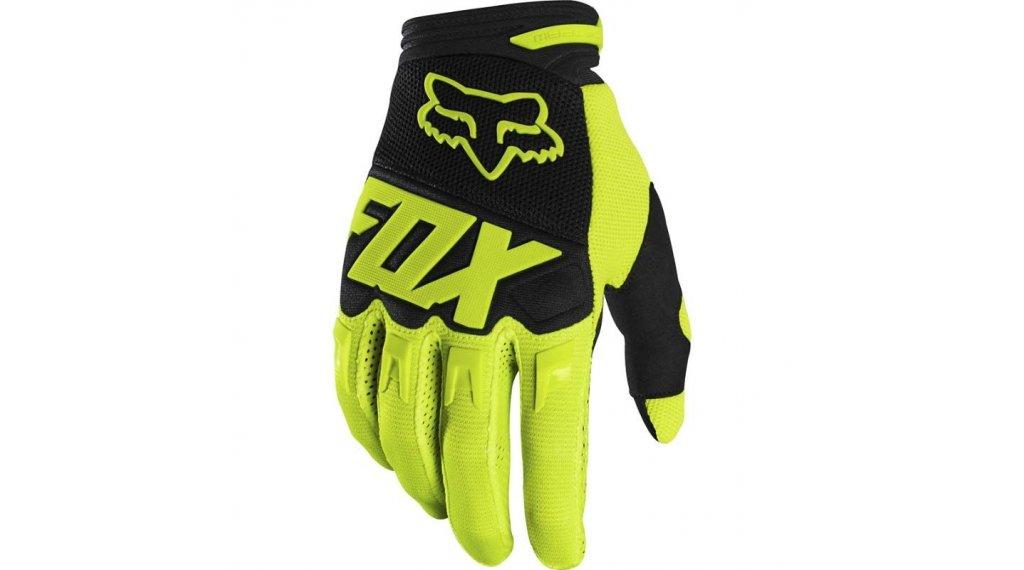 Fox Dirtpaw Race MX-Handschuhe lang Kinder Gr. XS flo yellow