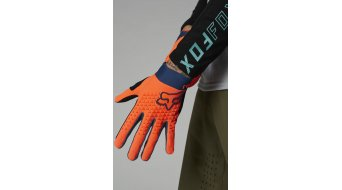 FOX Def end gloves long kids size YS atomic punch
