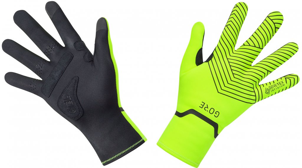 GORE Wear C3 GORE-TEX INFINIUM Stretch Mid Handschuhe lang Gr. XS (5) neon yellow/black