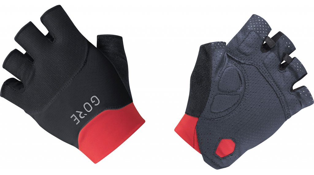 GORE C5 Vent 手套 短 型号 M (7) black/hibiscus 粉色