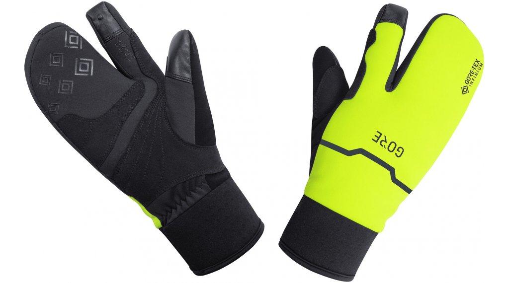 GORE Wear GORE-TEX INFINIUM Thermo Split Handschuhe lang Gr. S (6) black/neon yellow