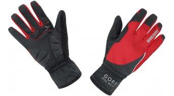 GORE Bike Wear Power guantes largo(-a) Señoras-guantes bici carretera Windstopper Soft Shell Lady negro/rojo