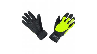 GORE BIKE WEAR Power 手套 长 女士-手套 公路赛车 Windstopper Soft Shell Lady 型号 6 (S) black/neon yellow