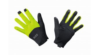 Gore C5 Gore-Tex Infinium gloves long black/neon yellow
