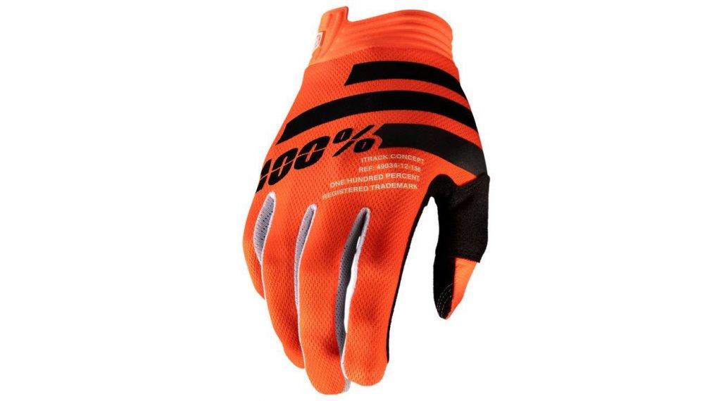 100% iTrack Handschuhe Herren lang Gr. S orange/black