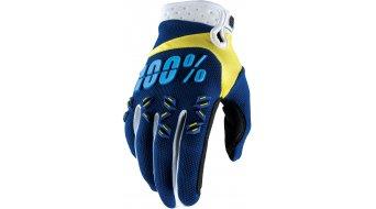 100% Airmatic guantes largo(-a) Dowhnhill-guantes MX Glove tamaño S navy/amarillo