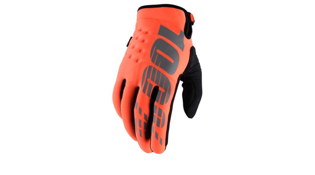 100% Brisker Cold Weather 手套 长 MTB(山地)-手套 型号 S 橙色