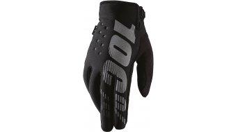 100% Brisker Cold Weather niños MTB guantes de dedos largos negro