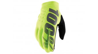 100% Brisker Cold Weather guanti dita-lunghe guanti-MTB mis. S yellow/black