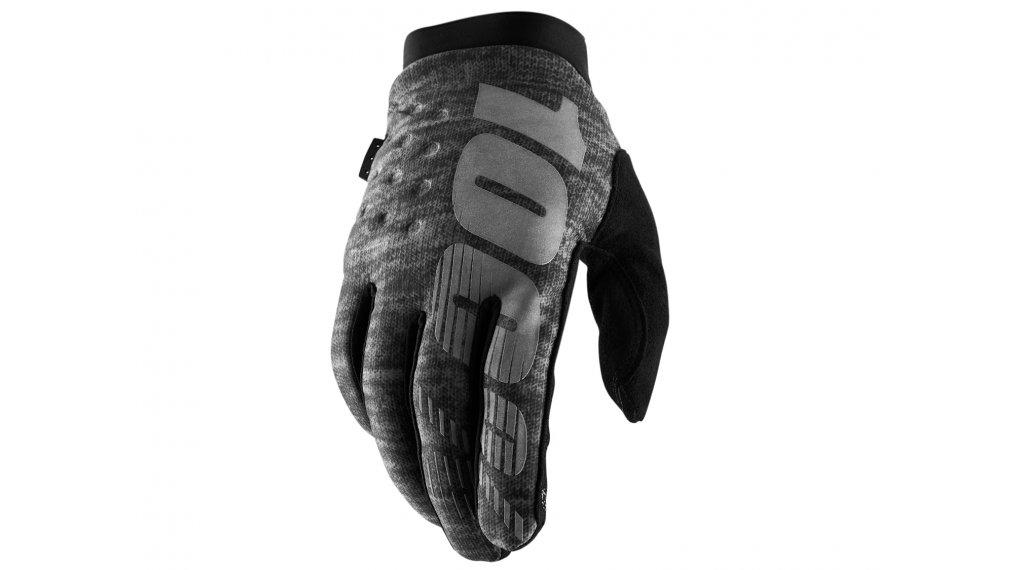100% Brisker Cold Weather guanti dita-lunghe guanti-MTB mis. S heather grey