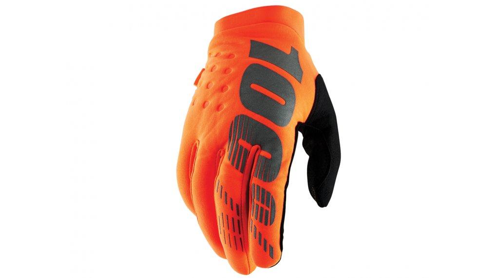 100% Brisker Cold Weather guanti dita-lunghe guanti-MTB mis. S arancione/black