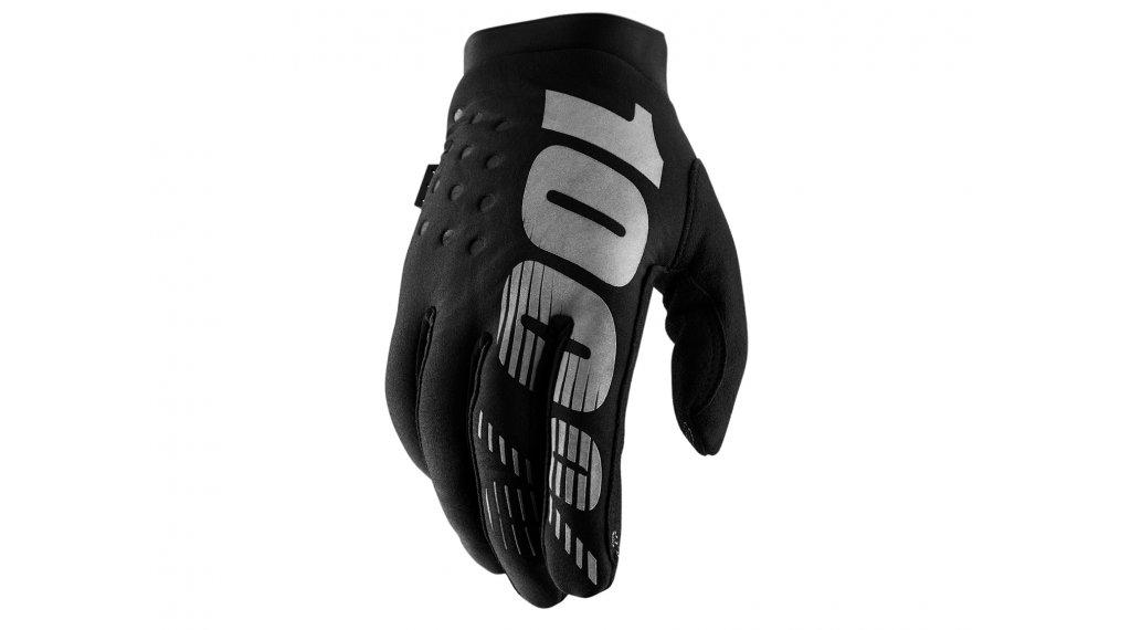 100% Brisker Cold Weather guanti dita-lunghe guanti-MTB mis. S black/grey