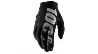 100% Brisker Cold Weather gloves long MTB- gloves size XL black/grey