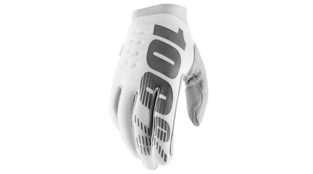 100% Brisker Cold Weather guanti dita-lunghe guanti-MTB mis. S white/silver