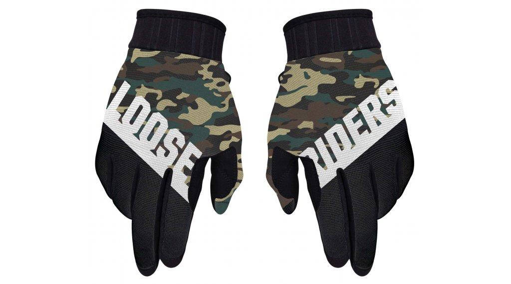 Loose Riders Camo Handschuhe lang Gr. S green/camo